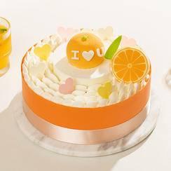 橙邀果果蛋糕